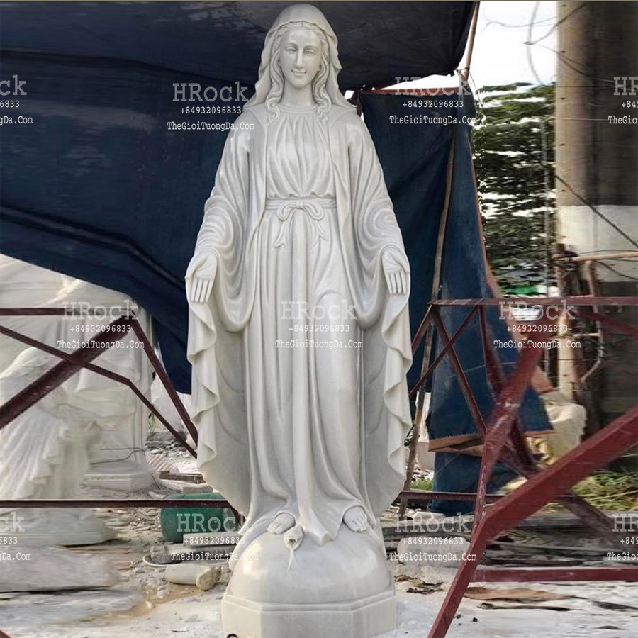The White Marble  Statue of Virgin Lady